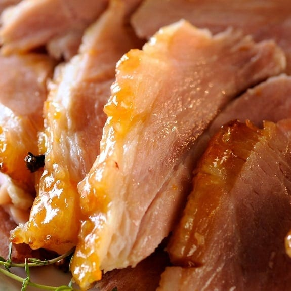 oven baked ham with apricot glaze