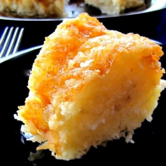oven baked orange coconut cake