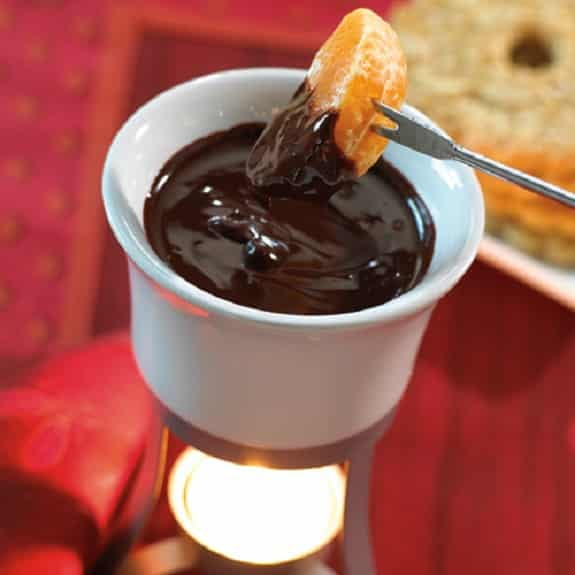 slow cooker chocolate orange fondue