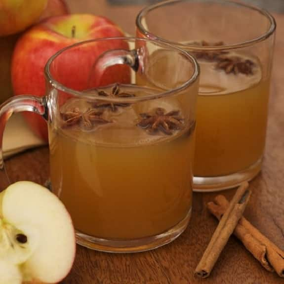 slow cooker fruit wassail