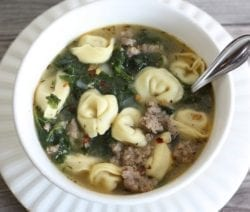 slow cooker sausage tortellini soup recipe