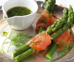 smoked salmon wrapped asparagus recipe