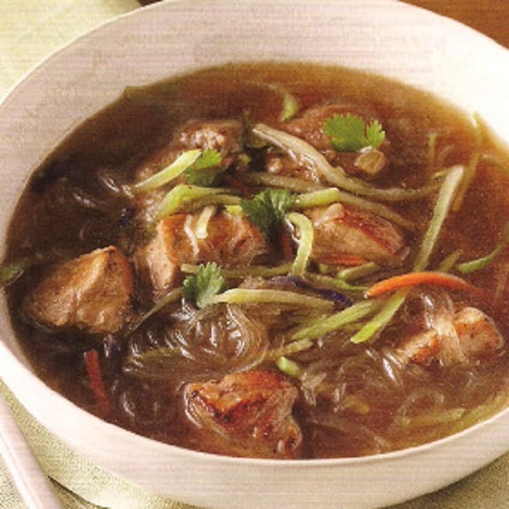 slow cooker five-spice pork soup