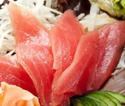 marinated tuna sashimi