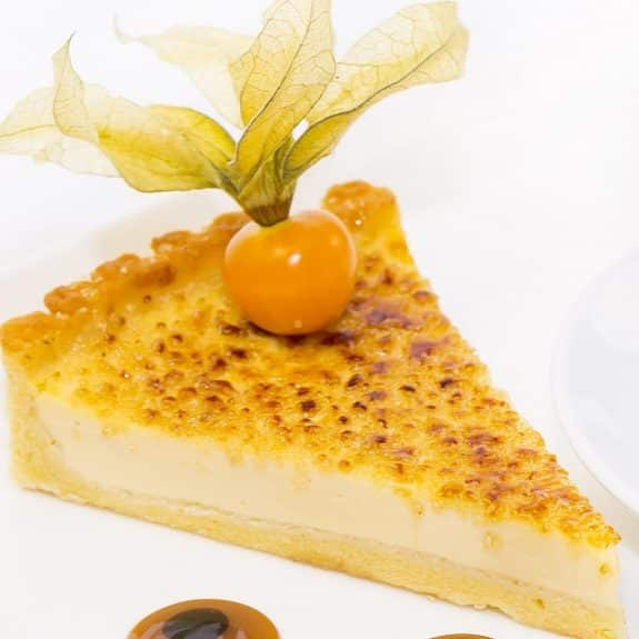 oven baked lemon and passion fruit tart