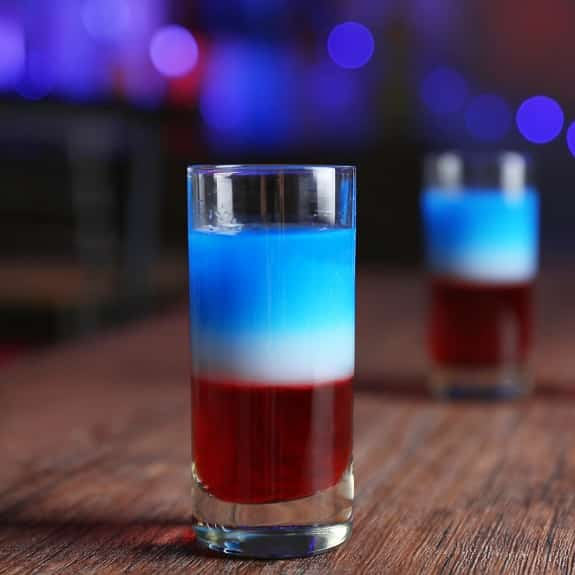 american flag shooter