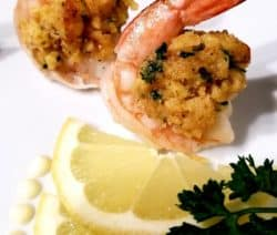 Oven Baked Stuffed Shrimp Recipe #seafood #shrimp #dinner #oven #homemade #appetizers #party