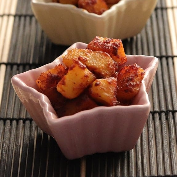 fried tamarind potatoes