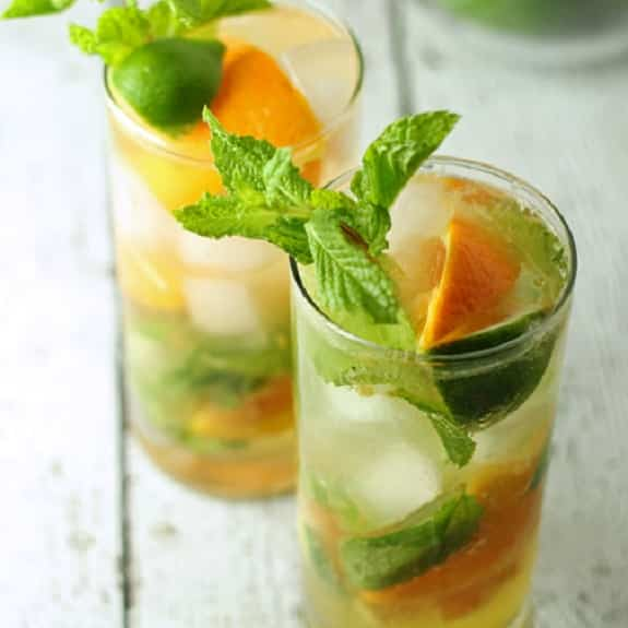 orange mojito cocktail