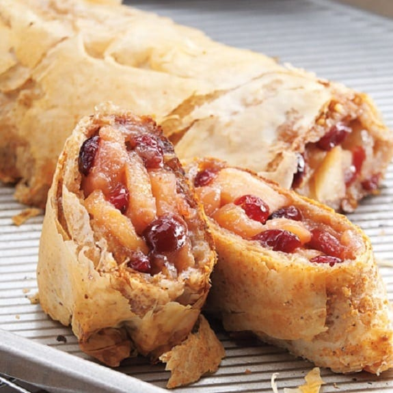 Ground Beef Phyllo Recipe: Oven Baked Apple Cranberry Strudel