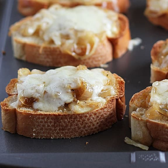 french onion toasts