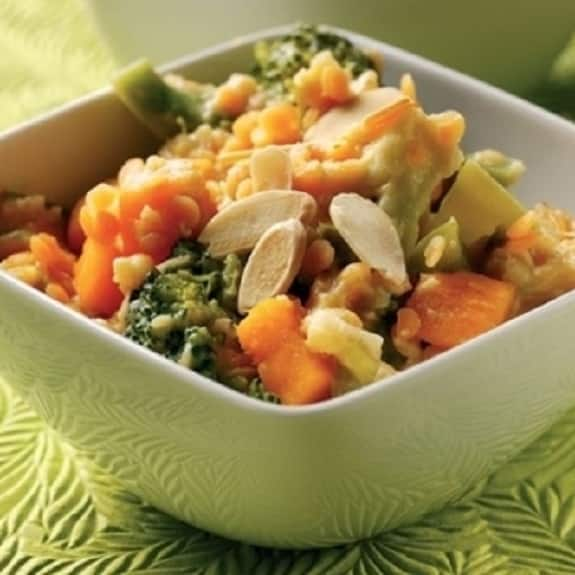 spicy vegetable and coconut salad