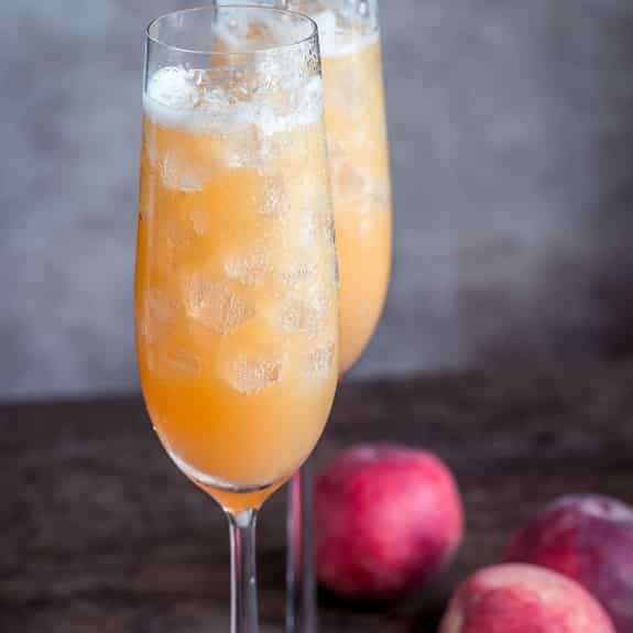 brandied peach fizz