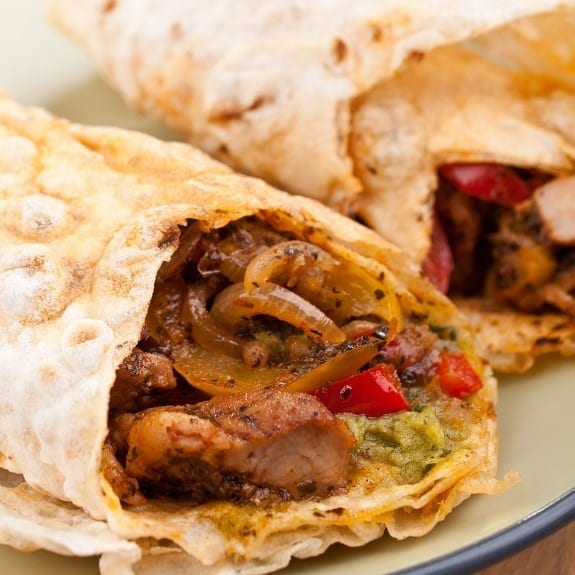 baked santa fe chicken wraps