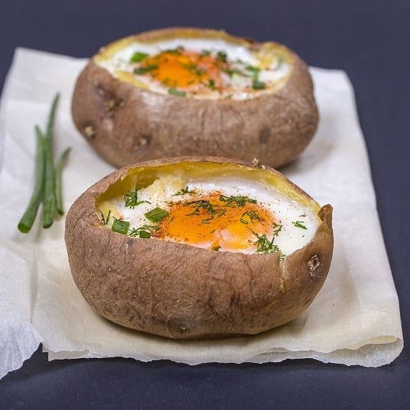 egg stuffed potato