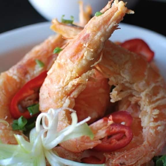 fried crispy salted shrimp