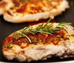 fried pork chops with tarragon and white wine