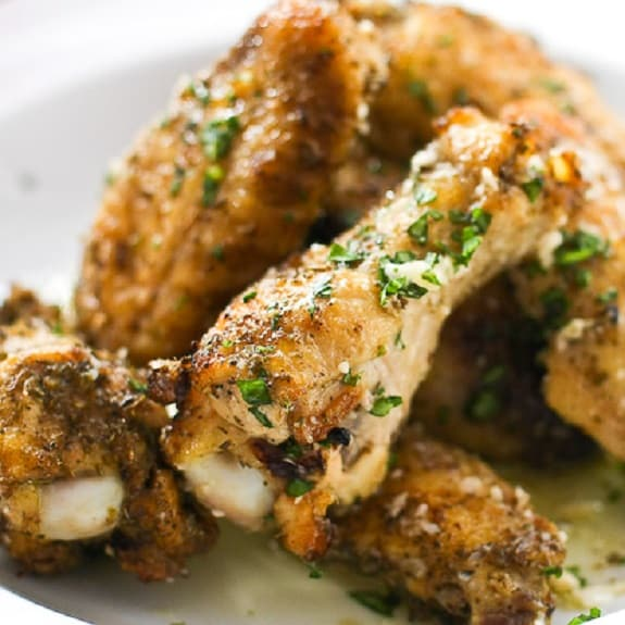 garlic-parmesan chicken wings