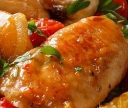 Oven baked honey-chipotle chicken breasts. Chicken breasts with honey and delicious homemade chipotle sauce cooked in an oven. #chicken #oven #dinner #lowcarb #sweet #spicy #homemade