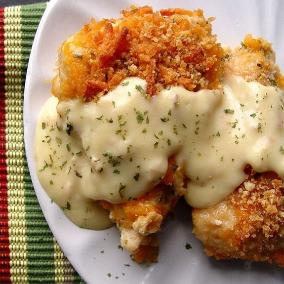 oven baked cheddar chicken