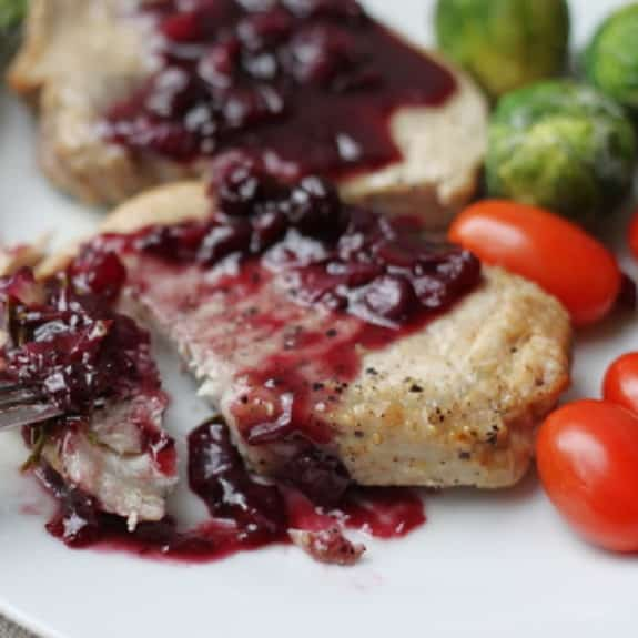 pressure cooker pork tenderloin with balsamic cranberry sauce