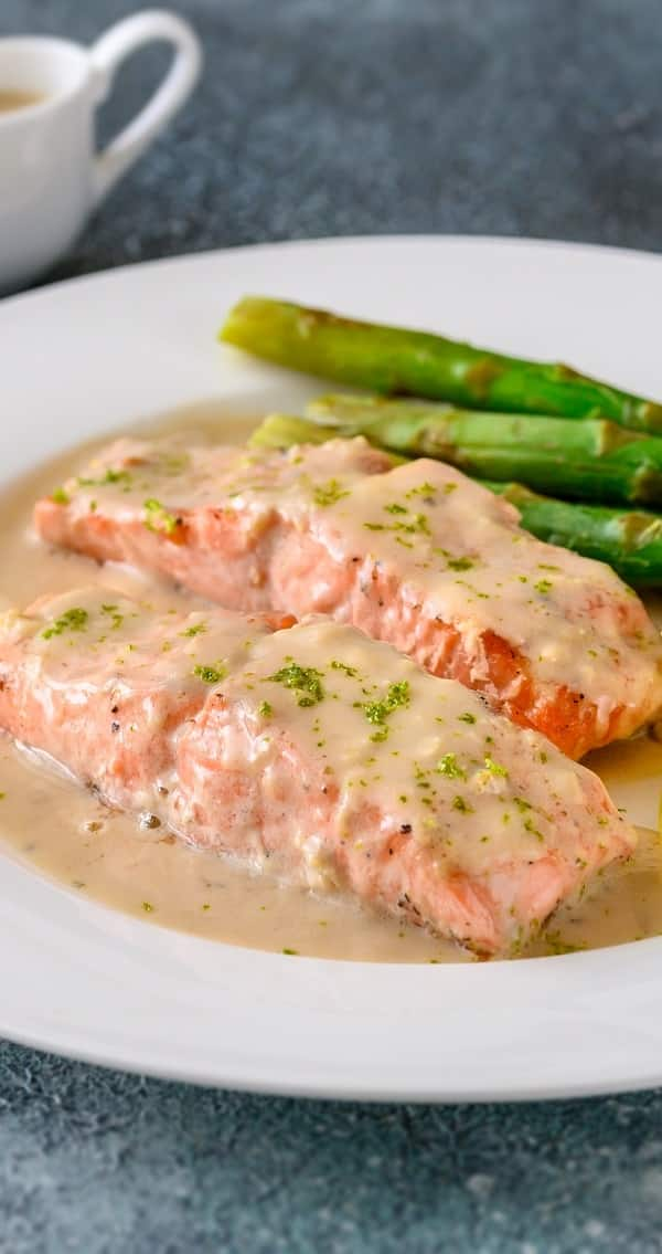 pressure cooker salmon steaks with creamy mustard sauce