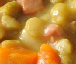 Pressure cooker split pea soup with ham. This tasty and easy soup recipe belongs to French Cuisine. Vegetable soup with ham cooked in a pressure cooker. #pressurecooker #instantpot #soup #ham #dinner #homemade #delicious #easy