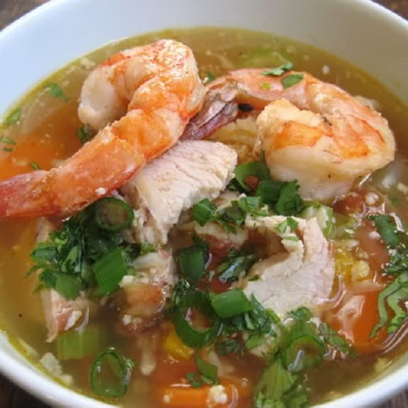 easy slow cooker chicken shrimp soup recipe