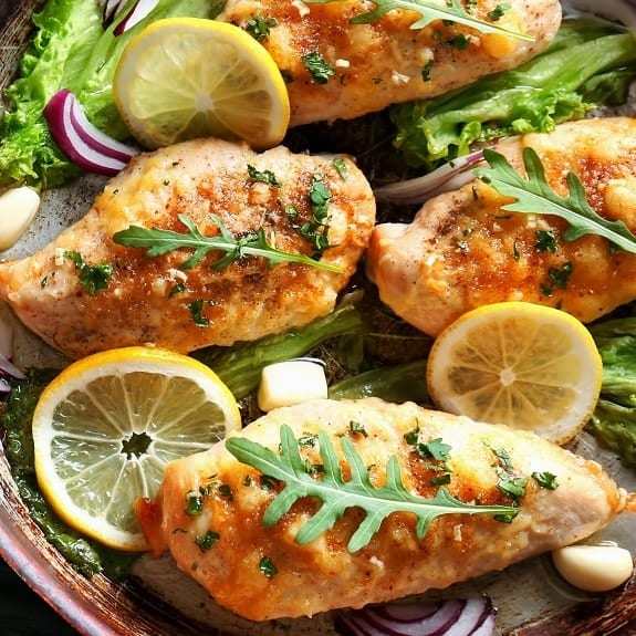 oven baked lemon garlic chicken recipe