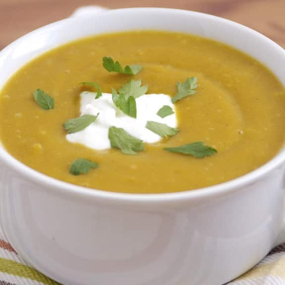 slow cooker apple butternut squash soup recipe