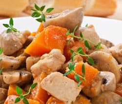 slow cooker-chicken-mushroom stew recipe