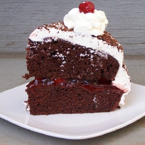 oven baked best black forest cake recipe