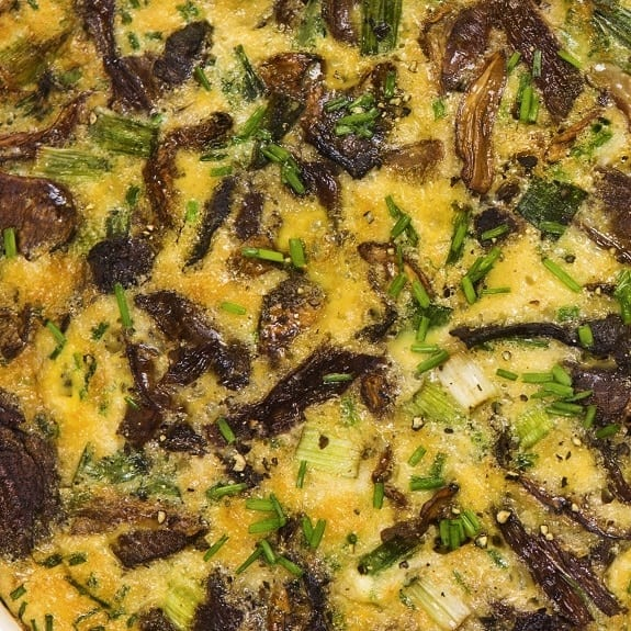 slow cooker mushroom bread pudding recipe