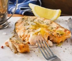 grilled salmon with mustard and brown sugar crust recipe