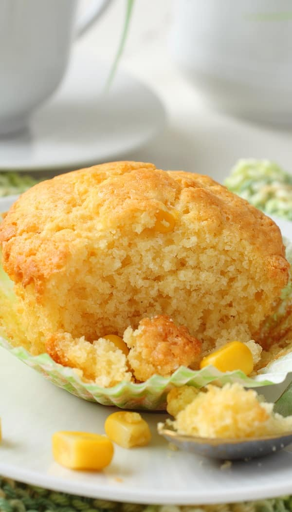 Oven Baked Cornbread Muffins Recipe #muffins #desserts #oven #homemade #breakfast #delicious #easy