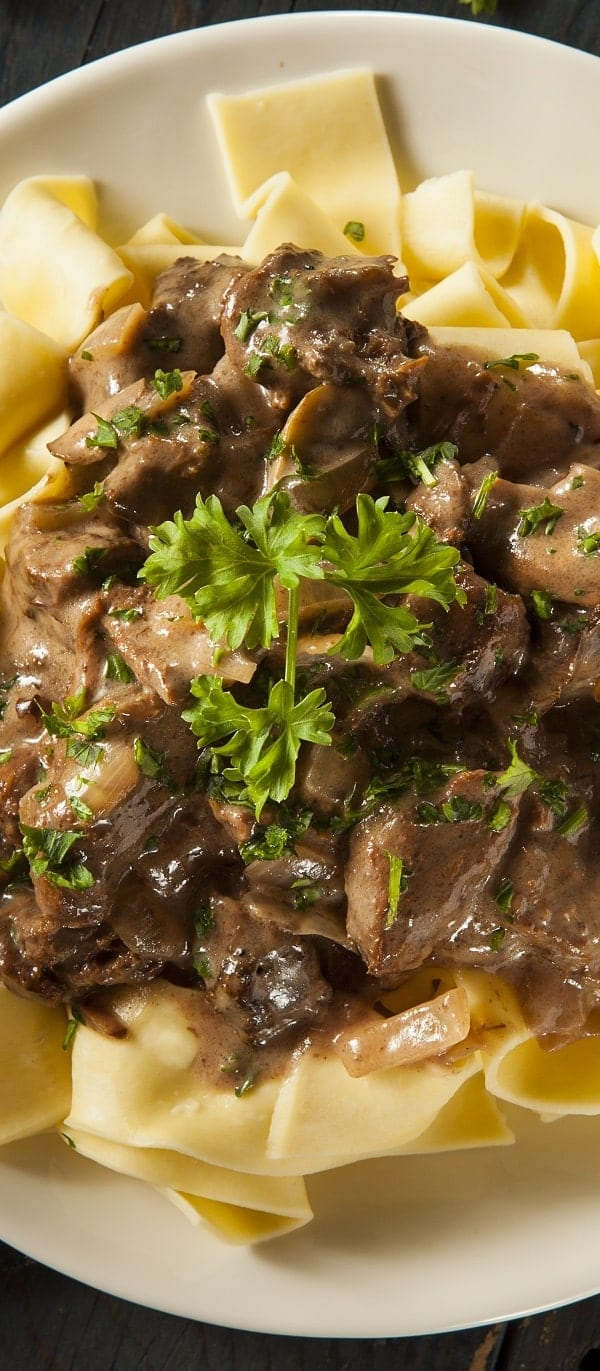 Slow Cooker Beef Stew with Noodles Recipe - Magic Skillet