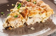 baked mushroom chicken quiche recipe