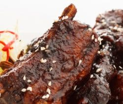 Pressure cooker sesame short ribs recipe. Beef short ribs with peanut butter, brown sugar, sesame oil, soy sauce, beef broth, and spices cooked in an electric pressure cooker.#pressurecooker #instantpot #ribs #dinner #homemade #yummy