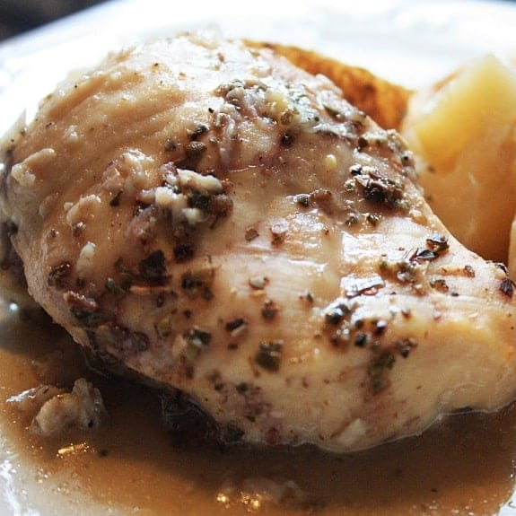 crock pot lemon-garlic chicken breasts recipe