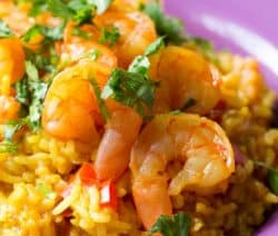 pressure cooker prawn paella recipe