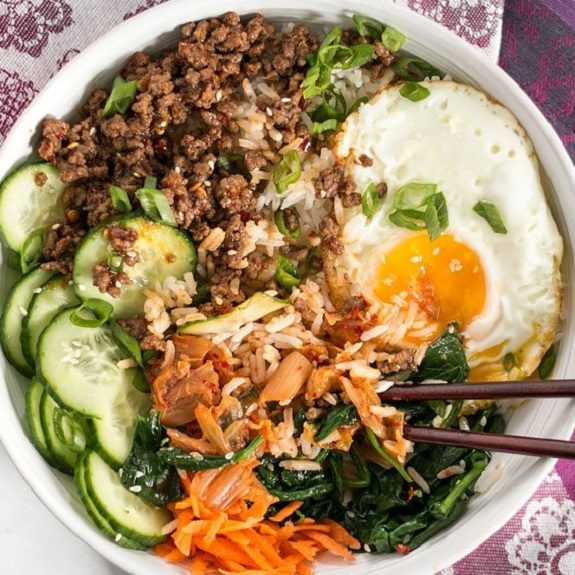 easy korean bibimbap recipe