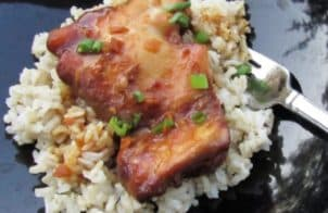 crock pot honey-soy chicken thighs recipe