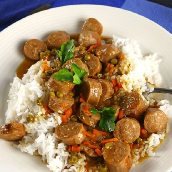 easy slow cooker sausage casserole recipe