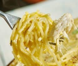 slow cooker cheesy chicken spaghetti recipe