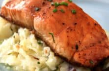 five-spice glazed salmon fillets recipe