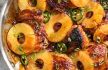 fried pineapple barbecue chicken recipe