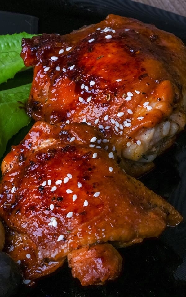 Pressure cooker sesame chicken thighs recipe. Chicken thighs with spices cooked in a pressure cooker. #pressurecooker #instantpot #dinner #chicken #homemade #delicious #yummy