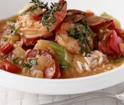 slow cooker creole-style shrimp sausage gumbo recipe