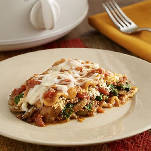 slow cooker easy vegetable lasagna recipe