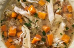 slow cooker traditional chicken soup recipe